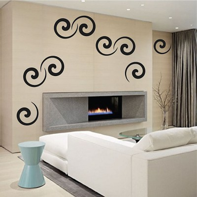 Swirly Wall Mural Decals
