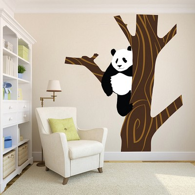 Panda Tree Wall Mural Decal