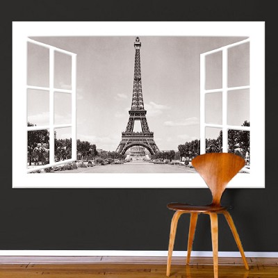 Paris Window Wall Mural Decal