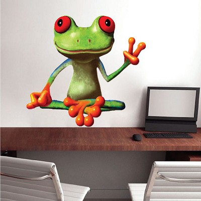 Peace Frog Vinyl Decal