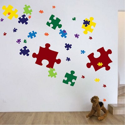 Puzzle Pieces Wall Mural Decal