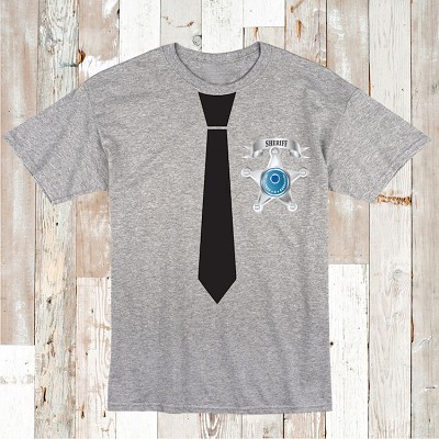 Sheriff Tie T-Shirt Kids Custom Tee Shirt