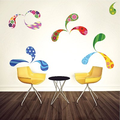 Paisley Wall Mural Decal
