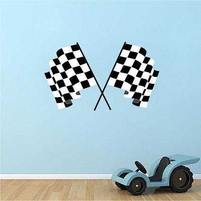 Racing Flags Wall Decal Murals