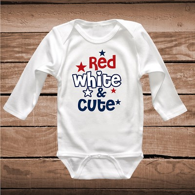 Red White and Cute Kids Onesies and Tees