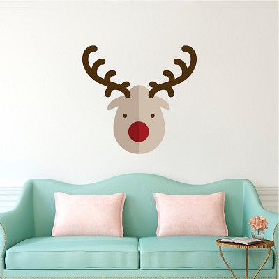 rudolph the reindeer christmas wall decal - Christmas Wall Decal