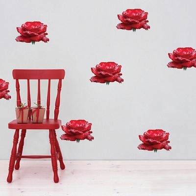 Rose Heads Wall Mural Decal
