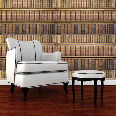 Rustic Book Mural Decal