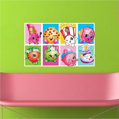 Cute Shopkin Wall Mural Decal