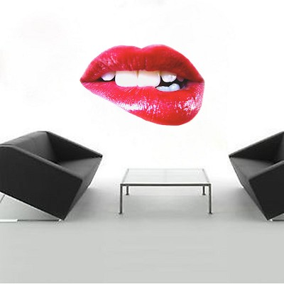 Lip Bite Wall Decal
