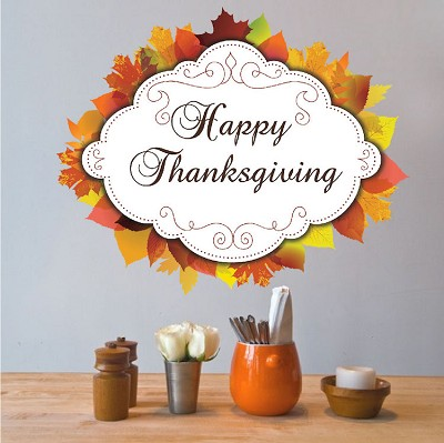 Happy Thanksgiving Wall Mural Decal