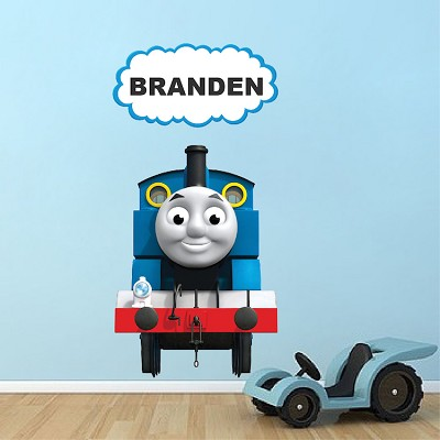 thomas the train custom wall decal - kids train wall decal - kids