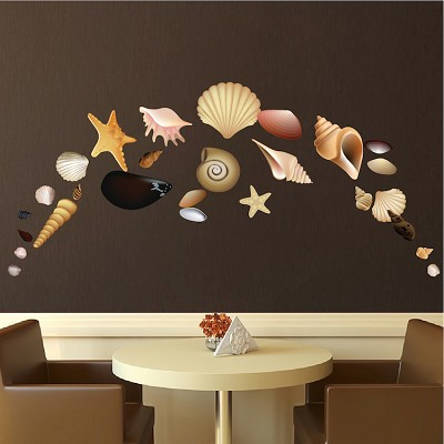 Seashell Wall Mural Decals