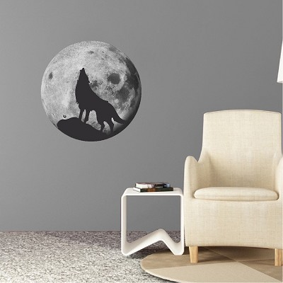 Howling Wolf Wall Decal
