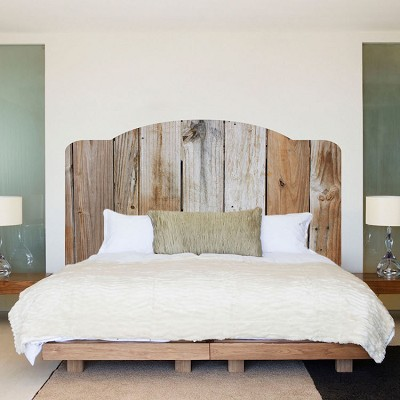 Rustic Bed Headboard Wall Mural Decal
