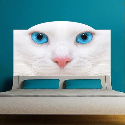 Cat Headboard Wall Mural Decal