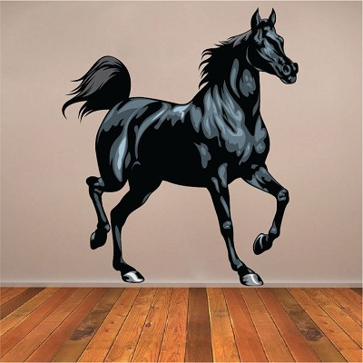 Black Horse Wall Mural Decal