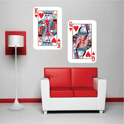 Playing Card Wall Mural Decal