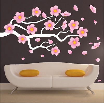 Flower Branch Wall Mural Decal