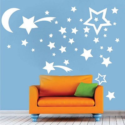 Bedroom Stars Wall Mural Decals