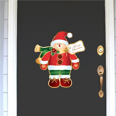 Christmas Santa Snowman Wall Decal