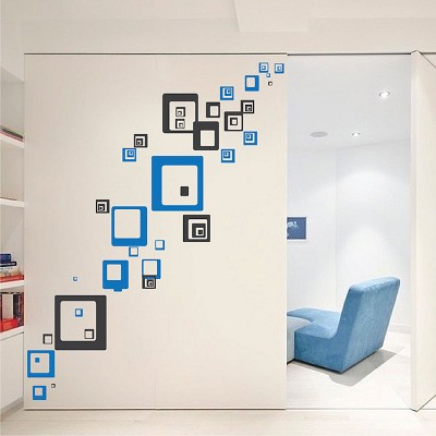 Square Shaped Wall Decals Square And Rectangle Wall Art
