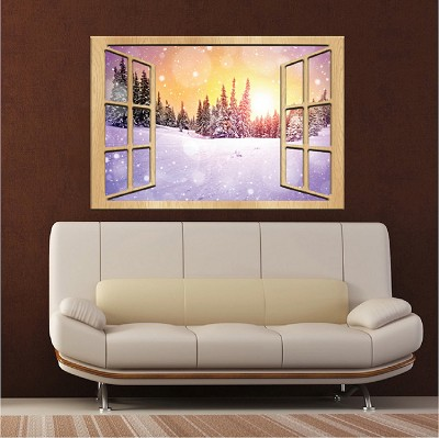 Winter Night Wall Mural Decal